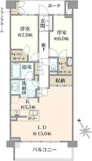 アリュール横濱東寺尾の間取図