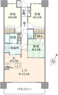 プライム横浜生麦の間取図