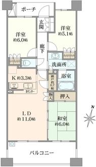 プラウド横浜鶴見市場の間取図