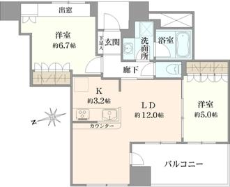 ロイヤルタワー横濱鶴見の間取図