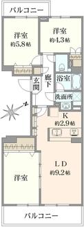 コープ野村バードウッド鶴見2番館の間取図