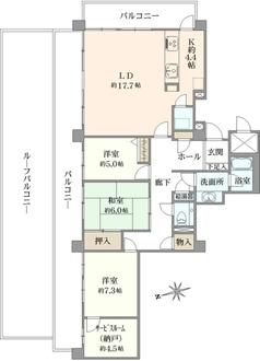 コスモ綱島グランステージの間取図