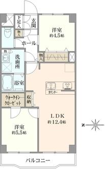ダイアパレス東寺尾第三弐号棟の間取図