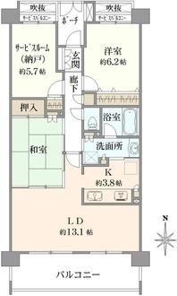 クレストフォルム鶴見グランステージの間取図