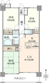 グランアジール鶴見潮田公園の間取図