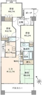 横浜三ツ池公園パーク・ホームズの間取図