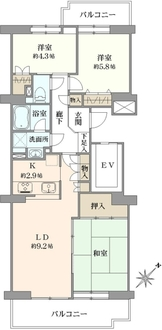 コープ野村バードウッド鶴見弐番館の間取図