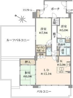 ジェイパーク横浜矢向フローラ・ガーデンの間取図