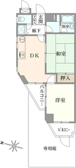 ライオンズマンション菊名 第3の間取図