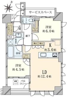 ジオ赤坂丹後町の間取図