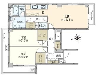 ローダム三番町の間取図