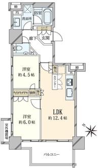 ザ・パークハウス赤坂レジデンスの間取図