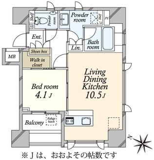 インプレスト赤坂の間取図