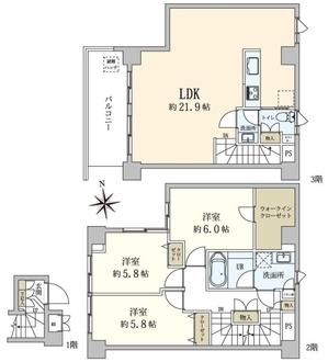 オープンレジデンス赤坂テラスの間取図