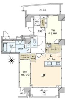 シティハウス恵比寿伊達坂の間取図