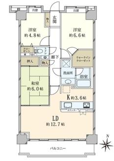パルティール赤坂の間取図