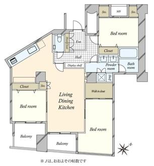 品川Vタワーの間取図