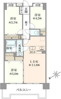 クレストフォルム田町ベイサイドの間取図