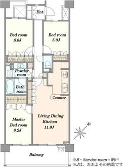 市川妙典南パーク・ホームズの間取図