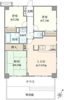 ライオンズマンション行徳新浜の間取図
