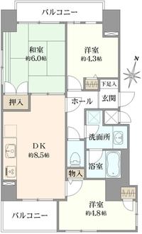シティポート錦糸町IIの間取図