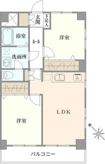 行徳パークサイドマンションの間取図