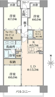 クレストフォルム東京アクアグランディオの間取図