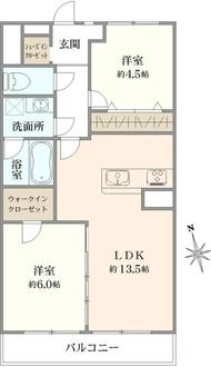 日商岩井中山マンションの間取図