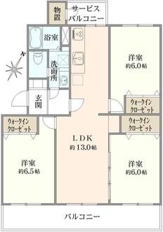 京成サンコーポ浦安12号棟の間取図