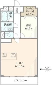 西新宿ハウスの間取図