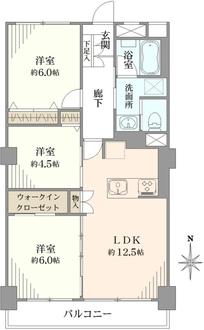 中銀東上野マンシオンの間取図