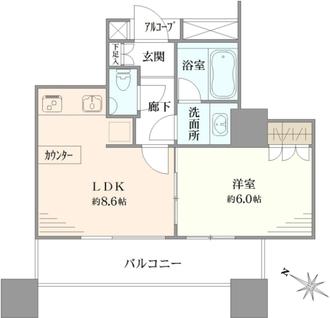 カテリーナ三田タワースイート イーストアークの間取図