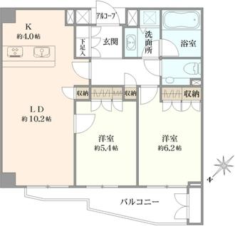 ジェイパーク渋谷東の間取図