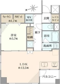 ライオンズマンション箱崎町の間取図