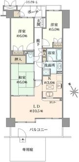 三田シティハウスの間取図