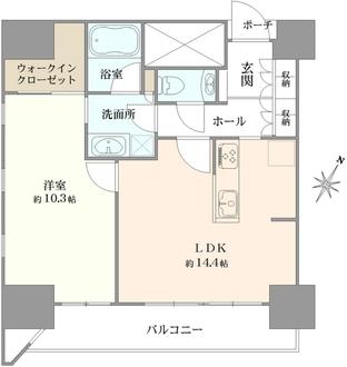カテリーナ三田タワースイートウエストアークの間取図