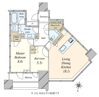 パークコート渋谷ザ・タワーの間取図