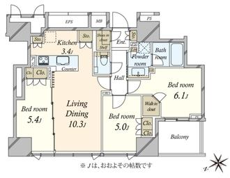 東京ベイシティタワーの間取図