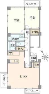 日生住宅目黒マンションの間取図