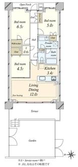 プラウド国分寺Residence-Cの間取図