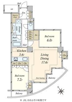 ドレッセ目黒インプレスタワーの間取図