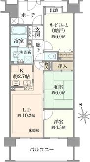 クレストフォルム高島平グランステージの間取図