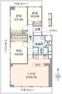 ソフトタウン武蔵野の間取図