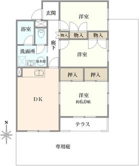 タカギ津田塾マンションの間取図