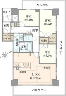ジ・アーバネックスタワー神戸元町通の間取図
