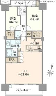 東京フロンティアシティ アーバンフォートの間取図