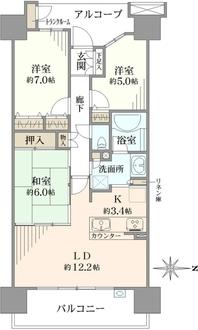 東京フロンティアシティ アーバンフォートイーストブロックの間取図