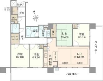 ザ・ステージオ パークフロントタワーの間取図