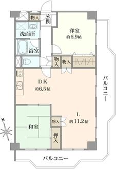 白鳥スカイマンションの間取図