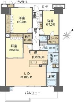 プラウド新浦安パームコートC棟の間取図